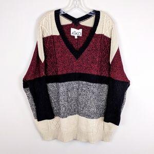 Aiko   Wool Blend Knit Sweater - A31